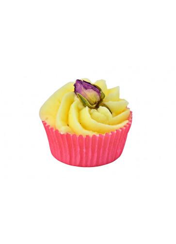 veganer Bademuffin bio - Badepraline Rose swirl 45gr
