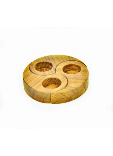 Oelhalter dreiteilig Nussholz