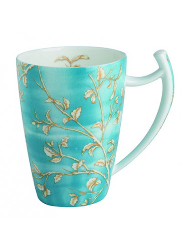 Porzellan Tee-Becher Goldzweig/blau Dekor