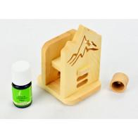 """Holzdiffusor """"Dufti"""" aus Zirbenholz mit patentiertem Duft-Verschluss und 5ml Zirbenöl"""