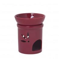 Duft-/Räucherlampe Keramik - bordeaux