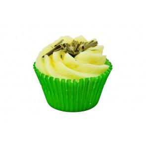 veganer Bademuffin bio - Badepraline Lemongrass swirl 45gr