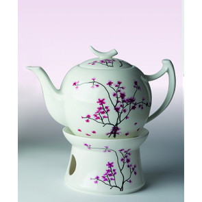 Porzellan Tee-Kanne mit Stövchen
