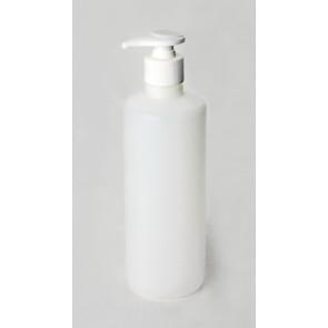 Rundflasche natur Pumpspender 500ml