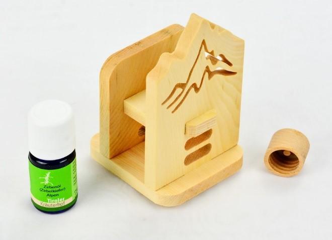 Zirbenholzdiffusor Dufti mit Zirbenöl und Patentverschluss
